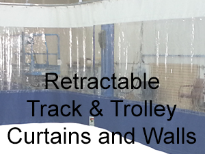 Retractable Track and Trolley Curtains and Walls